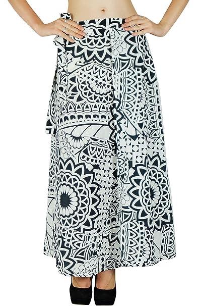Phagun Floral de una Sola Capa Falda Larga Abrigo Alrededor de la Falda del algodón del Vestido de los Abrigos: Amazon.es: Ropa y accesorios
