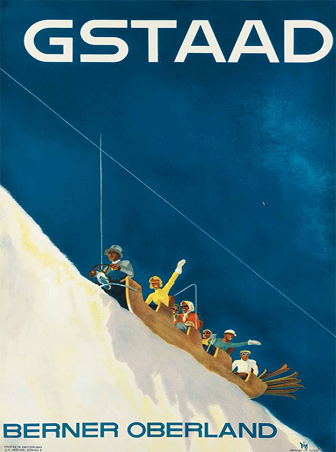 Switzerland Gstaad II European Winter Ski Europe Travel Advertisement Poster