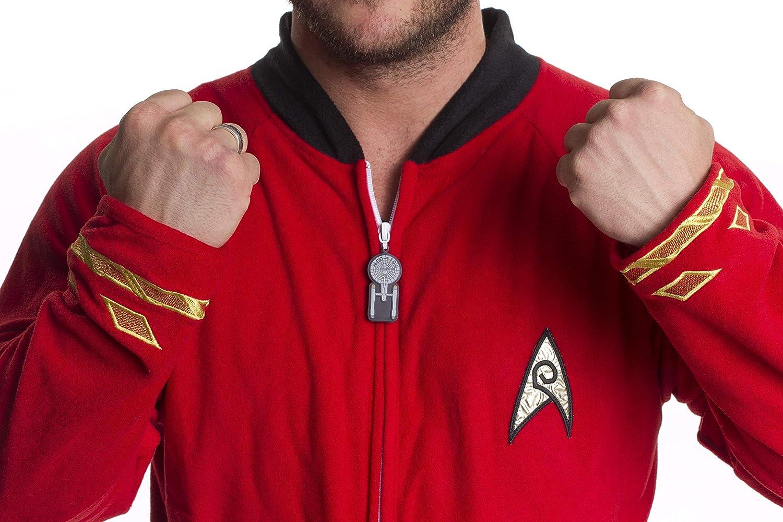 Star Trek Footed Onesie Adult Pajamas Engineering Red