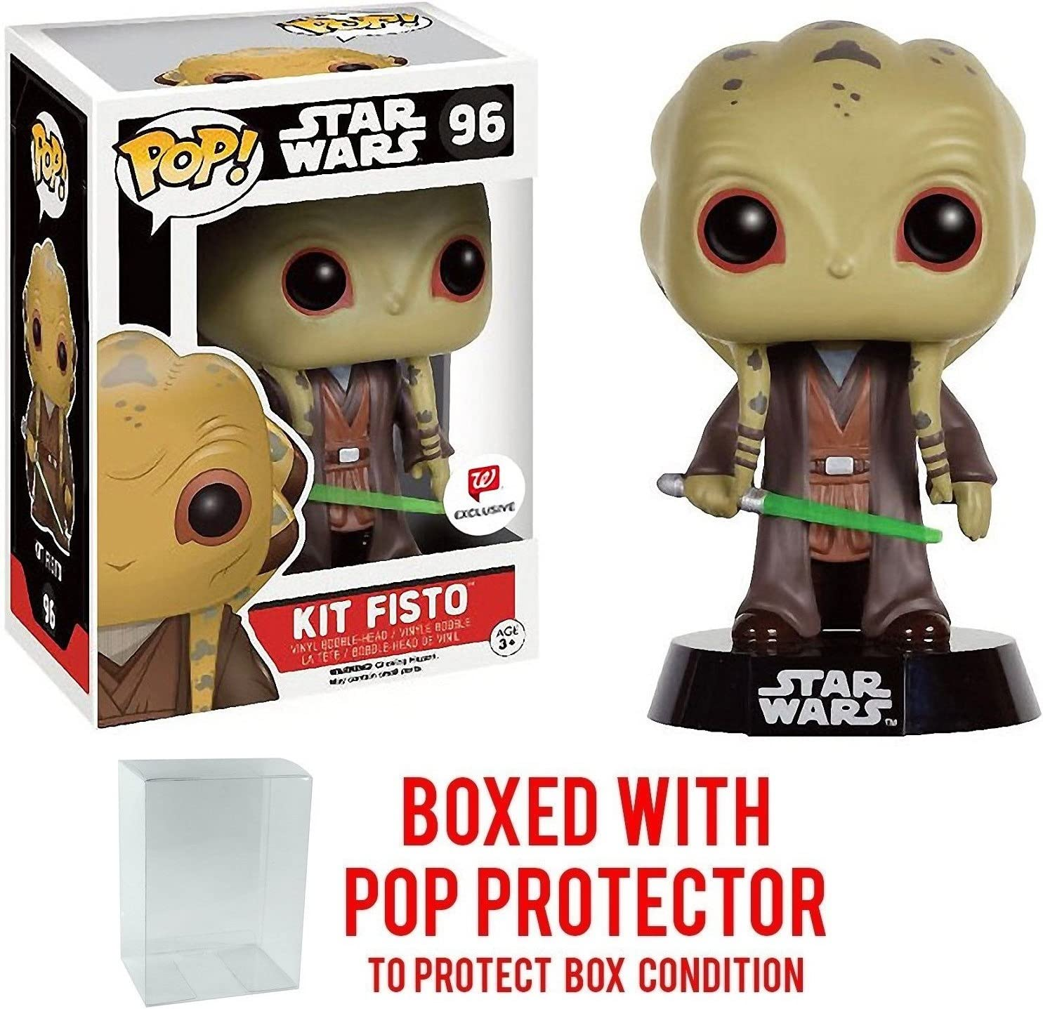 Funko Pop! Star Wars: Kit Fisto #96 (Walgreens Exclusive) Vinyl Figure (Bundled with Pop BOX PROTECTOR CASE)
