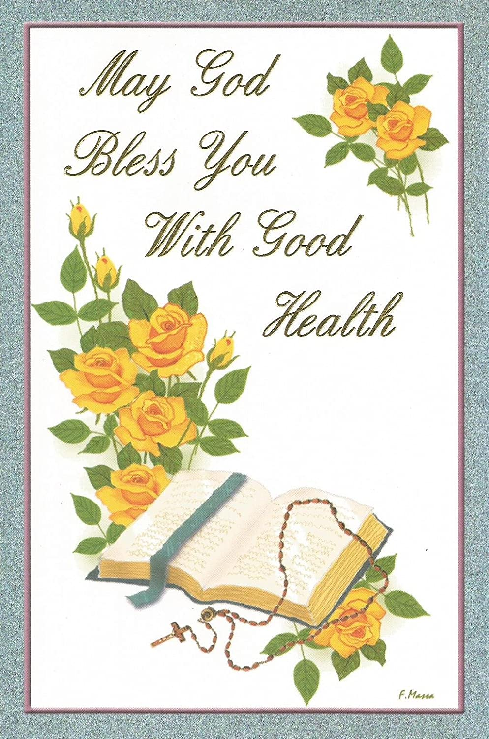 Amazon Com May God Bless You With Good Health Gw3 Home Kitchen