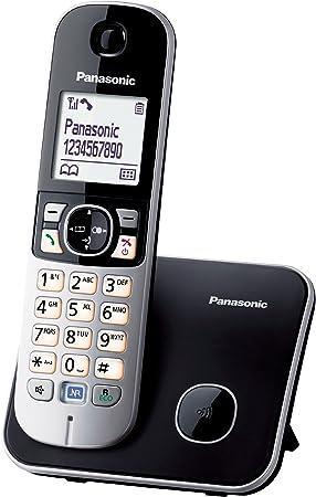 Panasonic KX-TG6811 - Teléfono (Teléfono DECT, Altavoz, 120 entradas, Identificador de Llamadas, Negro, Plata) [versión importada]: Amazon.es: Electrónica