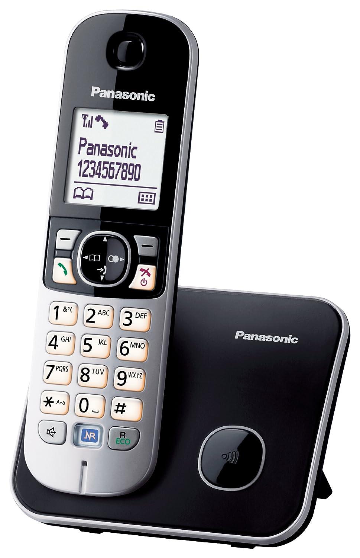 Téléphone fixe PANASONIC KXTG6811 NOIR SOLO SANS REPONDEUR