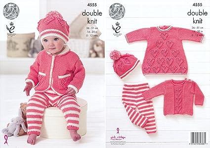 32f4c06da King Cole Baby Double Knitting Pattern Heart Motif Dress Sweater ...