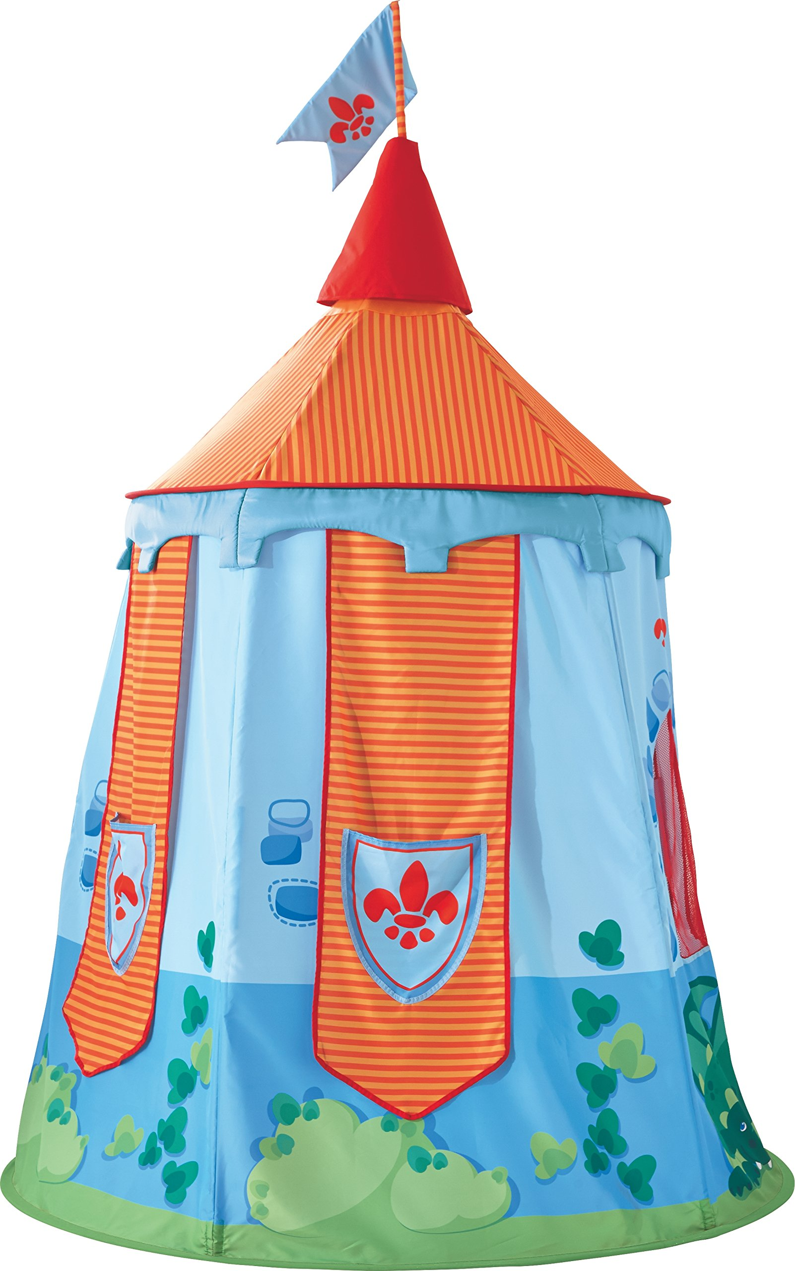 HABA Play Tent Knight's Hold - 75'' Castle Themed Playhouse - A Gallant Children's Bedroom Decor Accent