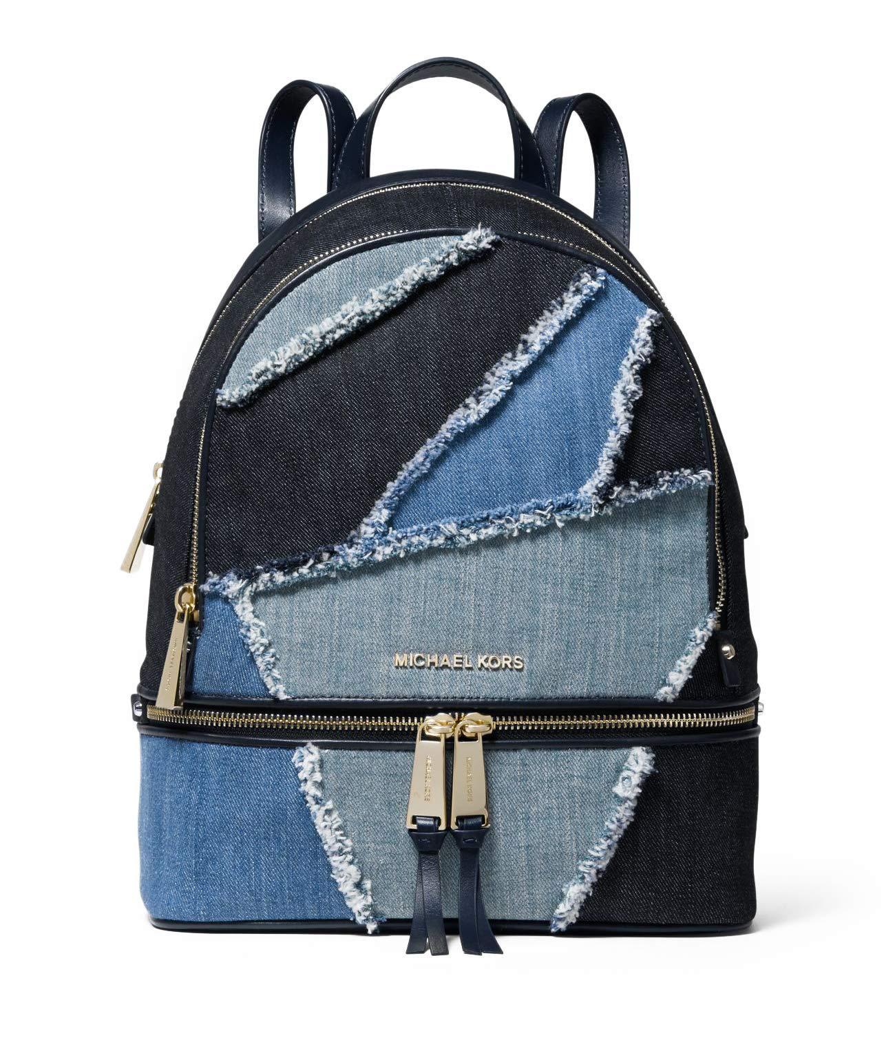 MICHAEL Michael Kors Rhea Zip Medium Backpack (Frayed Denim)