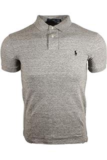 6852ba3a3 Polo Ralph Lauren Mens Custom Slim Fit Mesh Polo Shirt at Amazon ...