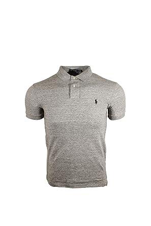eccda7b27 Polo Ralph Lauren Mens Heathered Mesh Polo Shirt at Amazon Men s ...