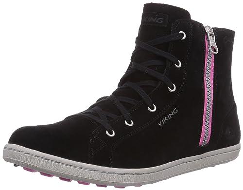 W Nero BlackDark Donna Alta Viking Gjevjon Sneaker GTX Schwarz SPcAq5