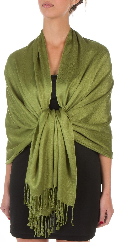 "Sakkas 78"" X 28"" Rayon from Bamboo Soft Solid Pashmina Shawl/Wrap/Stole"