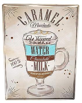 Cartel Letrero de Chapa Fun Cocina Receta dulce de leche: Amazon.es: Hogar