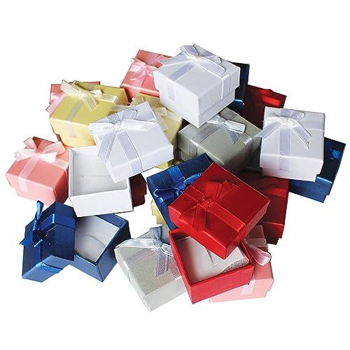 Pack de 24 Cajas para Joyas Anillo Exhibir Regalos con Inserto de Terciopelo por Kurtzy -