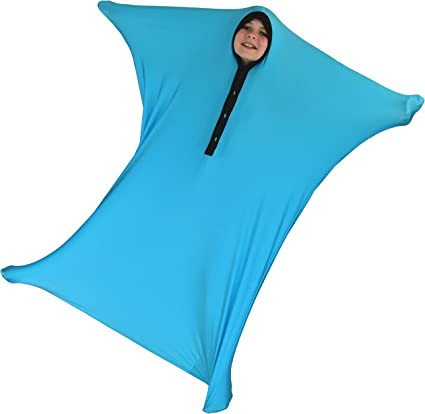 Sensory Sock Body Sock Blue, Medium ZZZ Weighted Blankets Sensory Sack 6-8