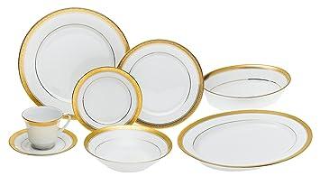Amazon.com | Noritake Crestwood Gold - 50 piece set, service for ...