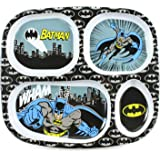 Bumkins DC Comics Divided Melamine Plate, Batman