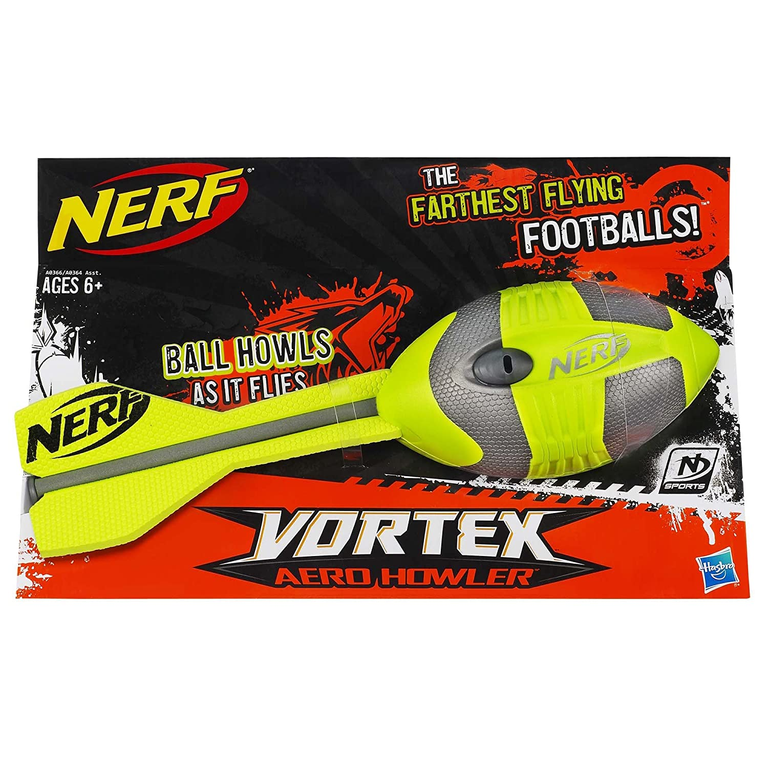Amazon Nerf N Sports Vortex Aero Howler Football Green and Grey Toys & Games