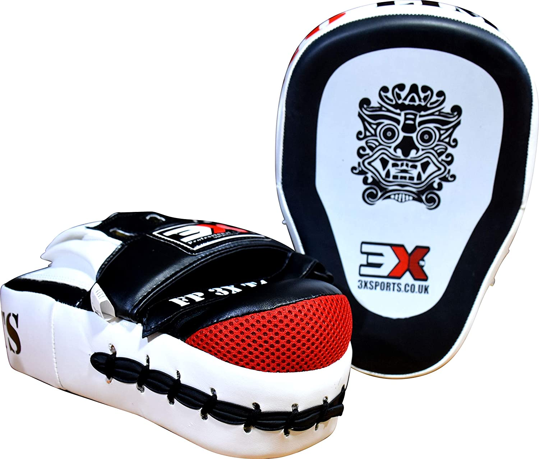 3X Professional Choice Boxing Pads MMA Hook Jab Target Training Muay Thai Krav Maga Punching Strike Kickboxing Martial Arts Target Focus Mitts Sold as Pair MULTI COLORS