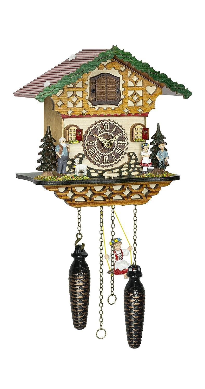 クォーツ式鳩時計 シュヴァルツヴァルド(黒い森)の家  スイング TU 4263 QMS B07DVT4PQ3