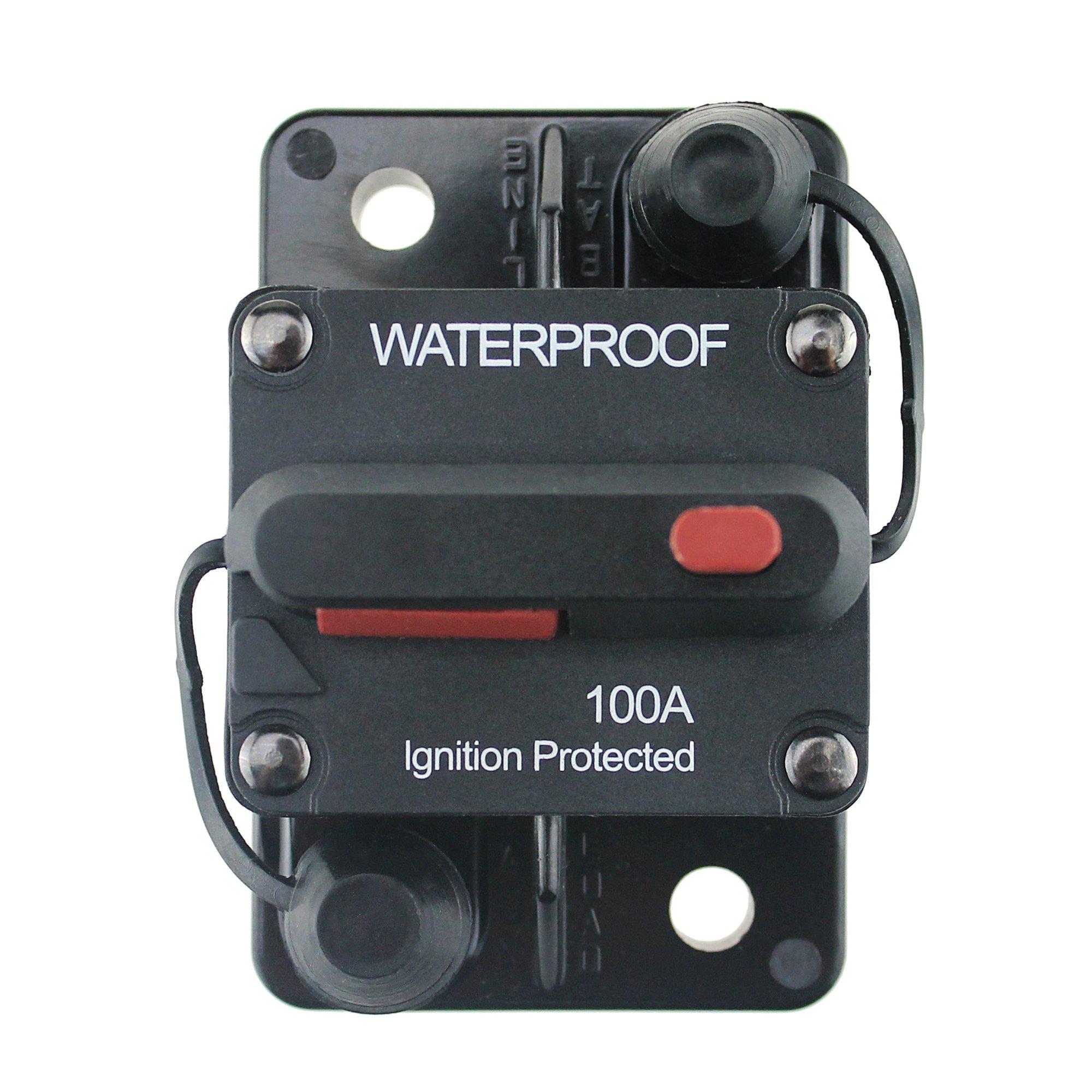 Ambuker 100 Amp Circuit Breaker Manual Power Fuse Rest
