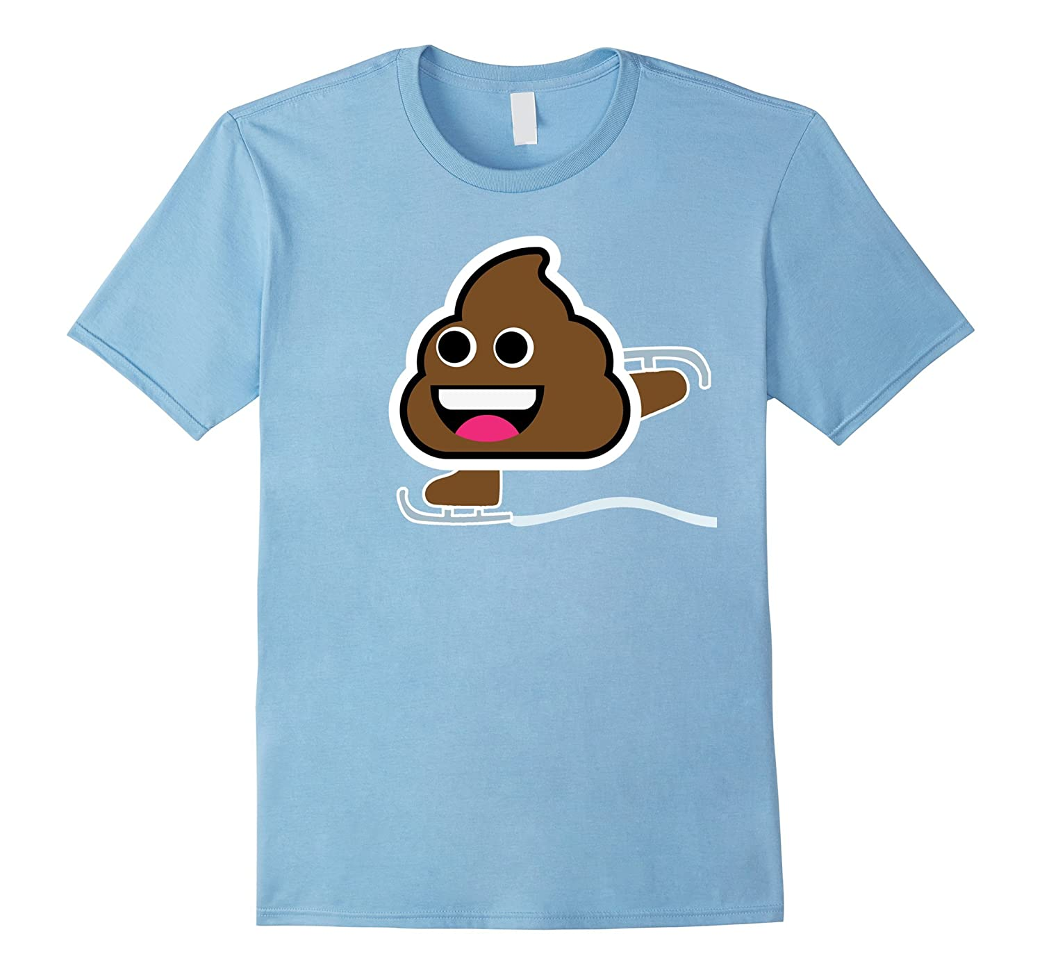 Ice Skating Poop Emoji T-shirt! Figure Skating Speed Skating-ANZ
