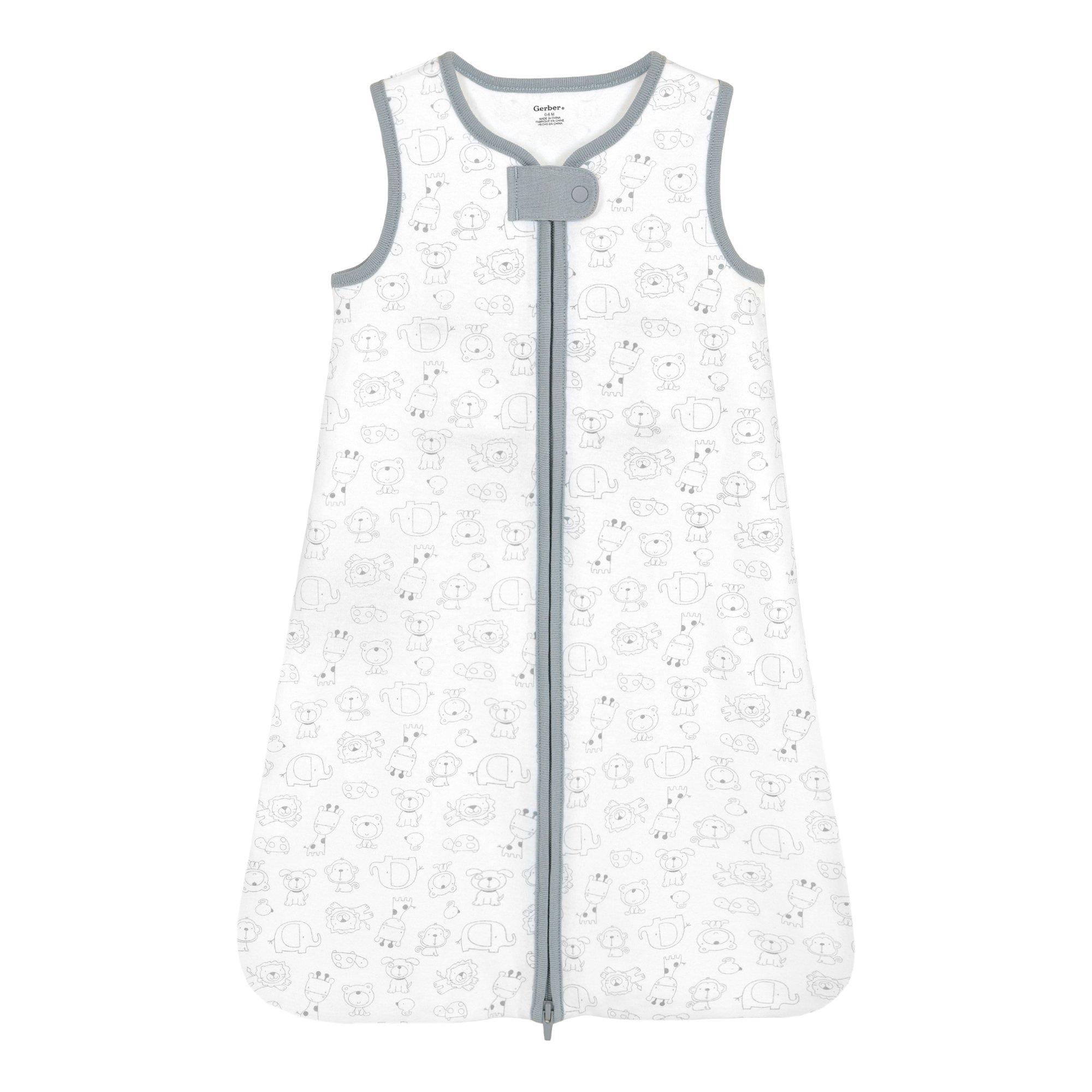 Gerber Animals Wear-A-Blanket, Gray, Medium