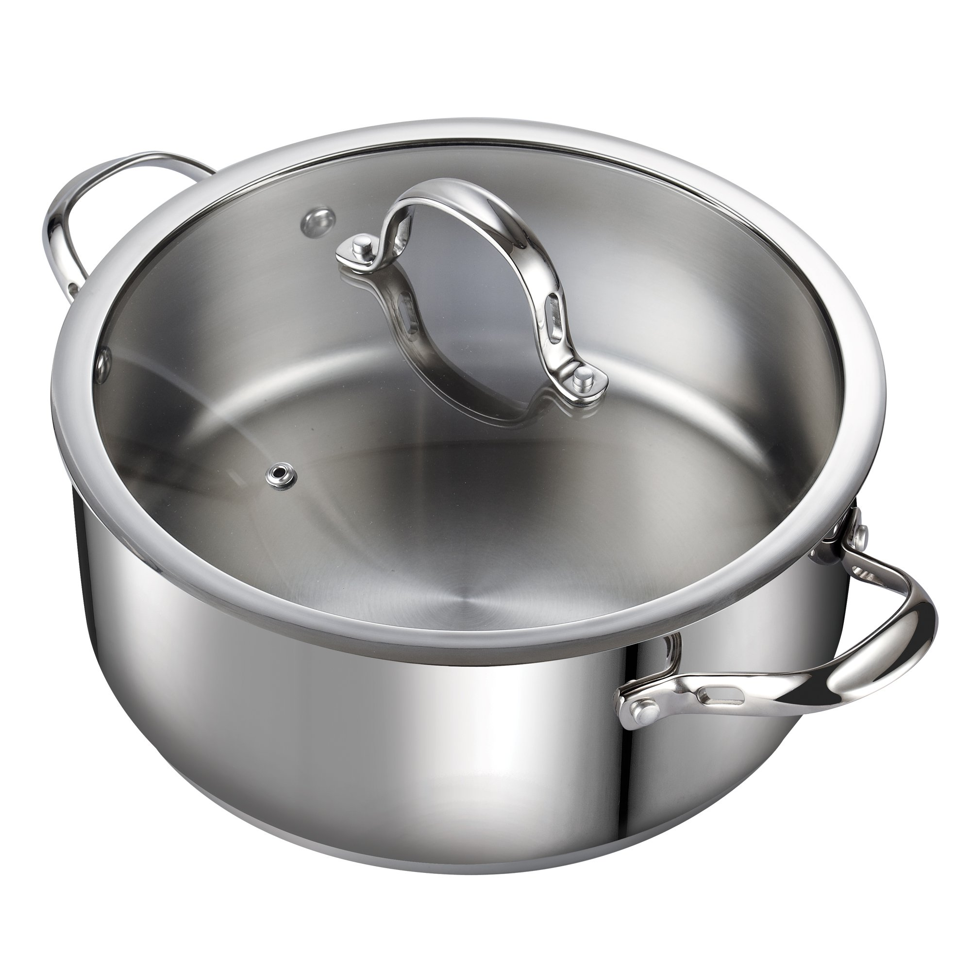 Cooks Standard 7-Quart Classic Stainless Steel Dutch Oven Casserole Stockpot with Lid by Cooks Standard