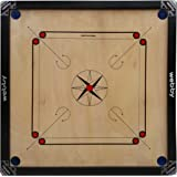 Webby Full Size (Large) 32 inches Cut Pocket Carrom Board with Coins, Striker & Carrom Powder