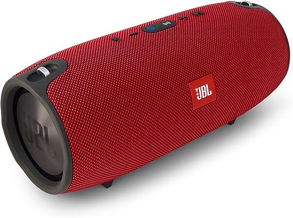 Jbl Xtreme Spritzwasserfester Tragbarer Bluetooth Lautsprecher Mit 10 000 Mah Akku Dualem Usb Ladeanschluss Und Freisprechfunktion Rot Audio Hifi