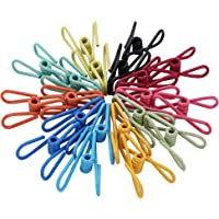 """Riveda Assorted Chip Bag Clips Utility Pack of 30 - PVC 2"""" Coated Colorful Sealer for Sealing Food - Paper Holder…"""