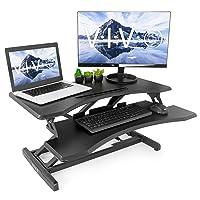 VIVO Small Height Adjustable Standing Desk Workstation