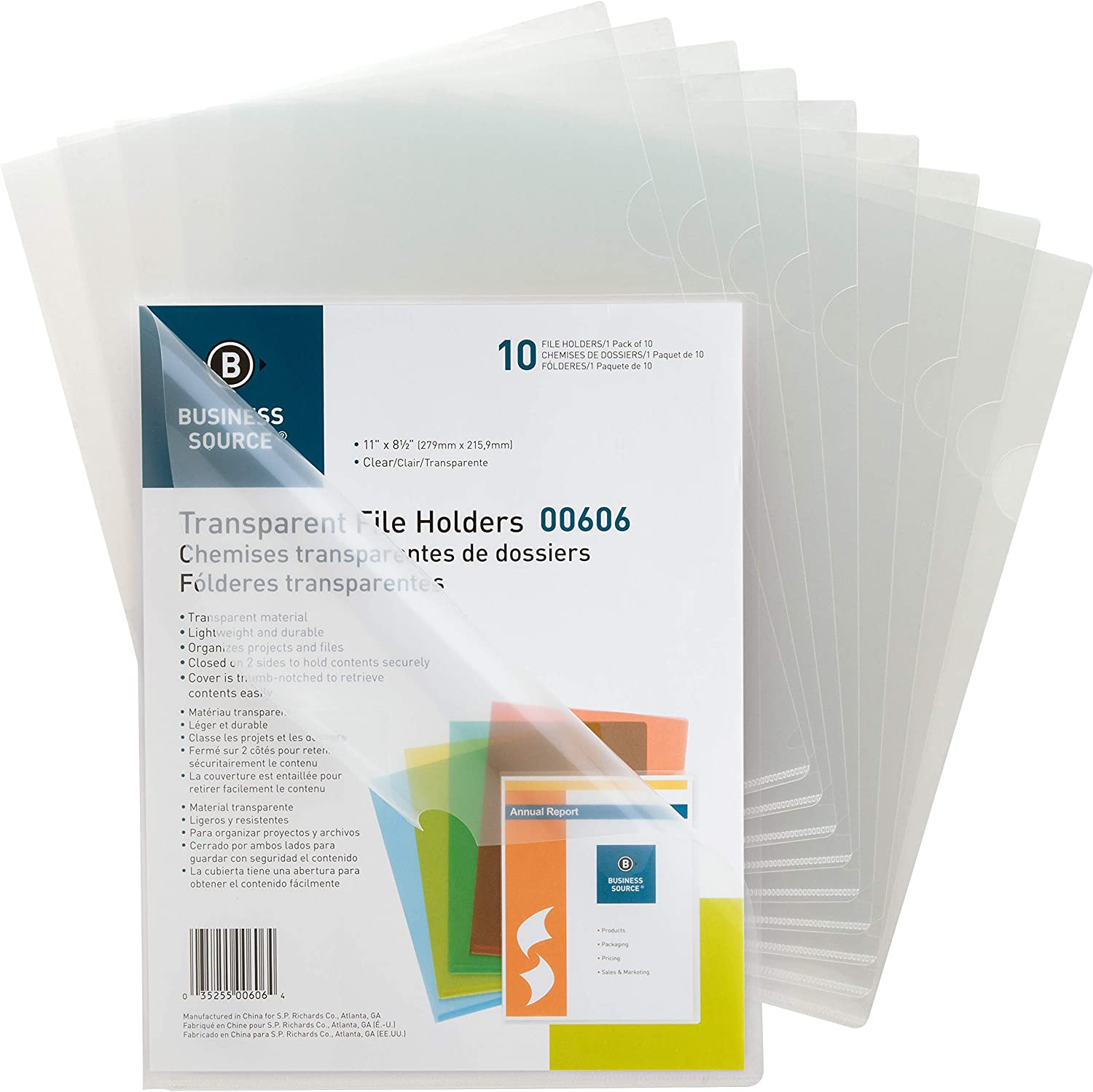 Business Source File Sleeve, Clear (00606BX)