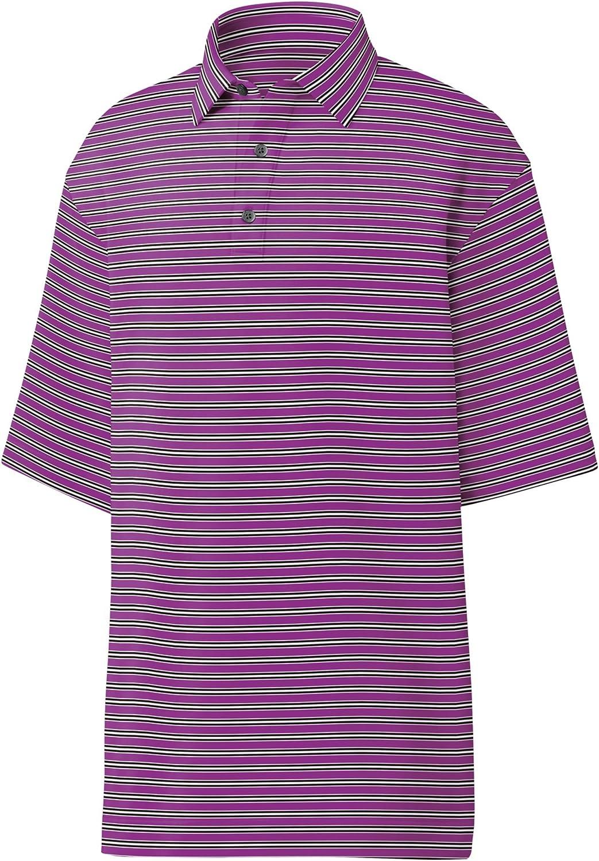 フットジョイ男性用プロドライ パフォーマンス ライルソリッド ポロシャツ B06XT2BXJ3 Small|Violet/Black/White Violet/Black/White Small