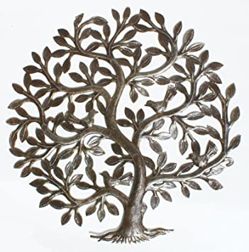 Metal Tree Of Life Decor Haitian Metal Wall Art Wall Decoration Oil Drum Art 60cm Wall Stickers Murals Amazon Canada