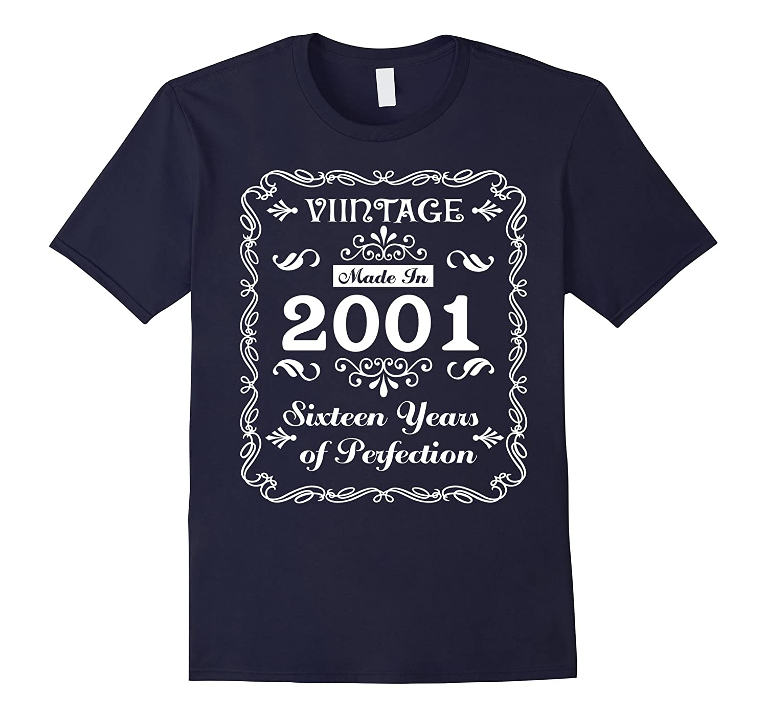 Vintage 2001 Sweet Sixteen Years of Perfection 16th Birthday-T-Shirt