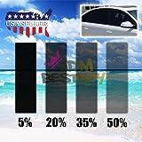 "Free Tool Kit 20""x120"" Uncut Roll Window Charcoal Black VLT 20% Tint Film Car Glass Office Home Security"