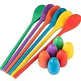 Meklines Egg Spoon Race Game Set, 6 Wooden Spoons