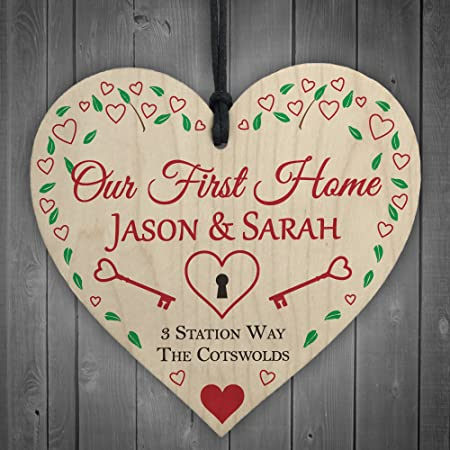 Personalised new home house warming Plaque Sign Gift Keepsake birthday