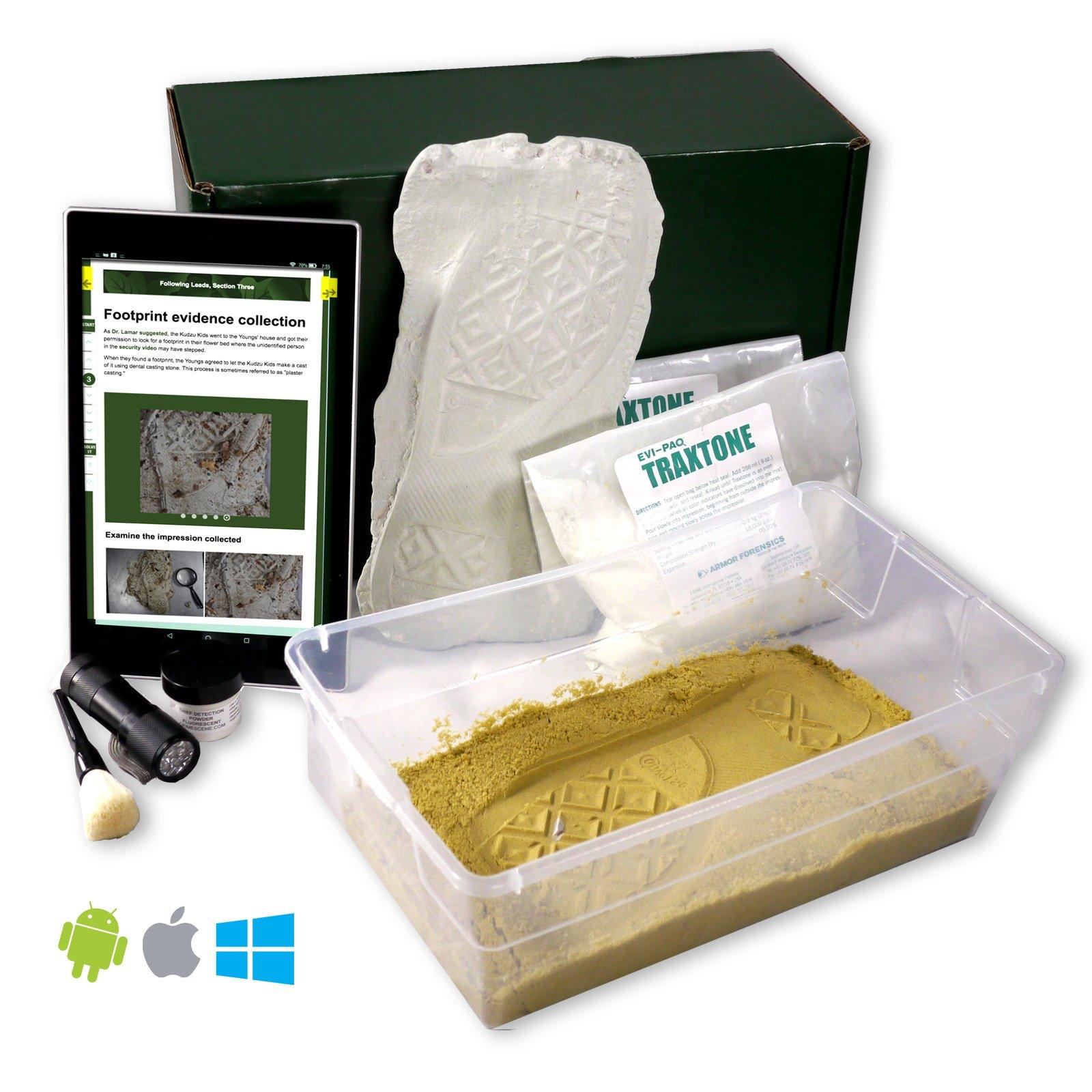 Crime Scene Forensic Science Kit, Footprint Casting Activity Pack