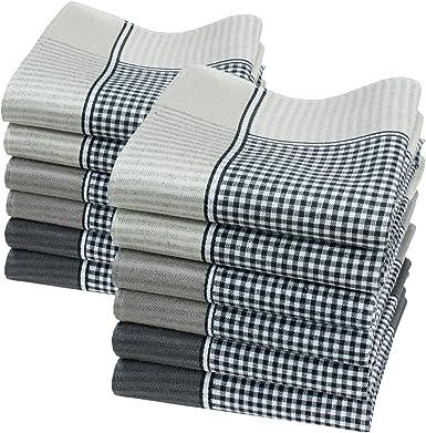 Merrysquare 12 pañuelos de caballero - Modelo « Oliver » - 40 centimetros - 100% algodón.: Amazon.es: Ropa y accesorios