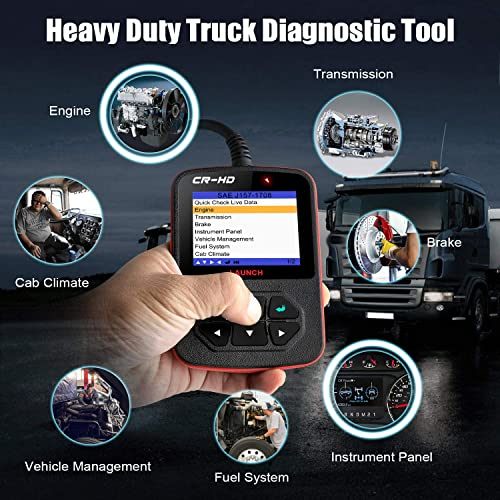 If you are an independent truck drivers and owners, Launch CReader HD Plus is the good heavy duty truck  scan tool for you