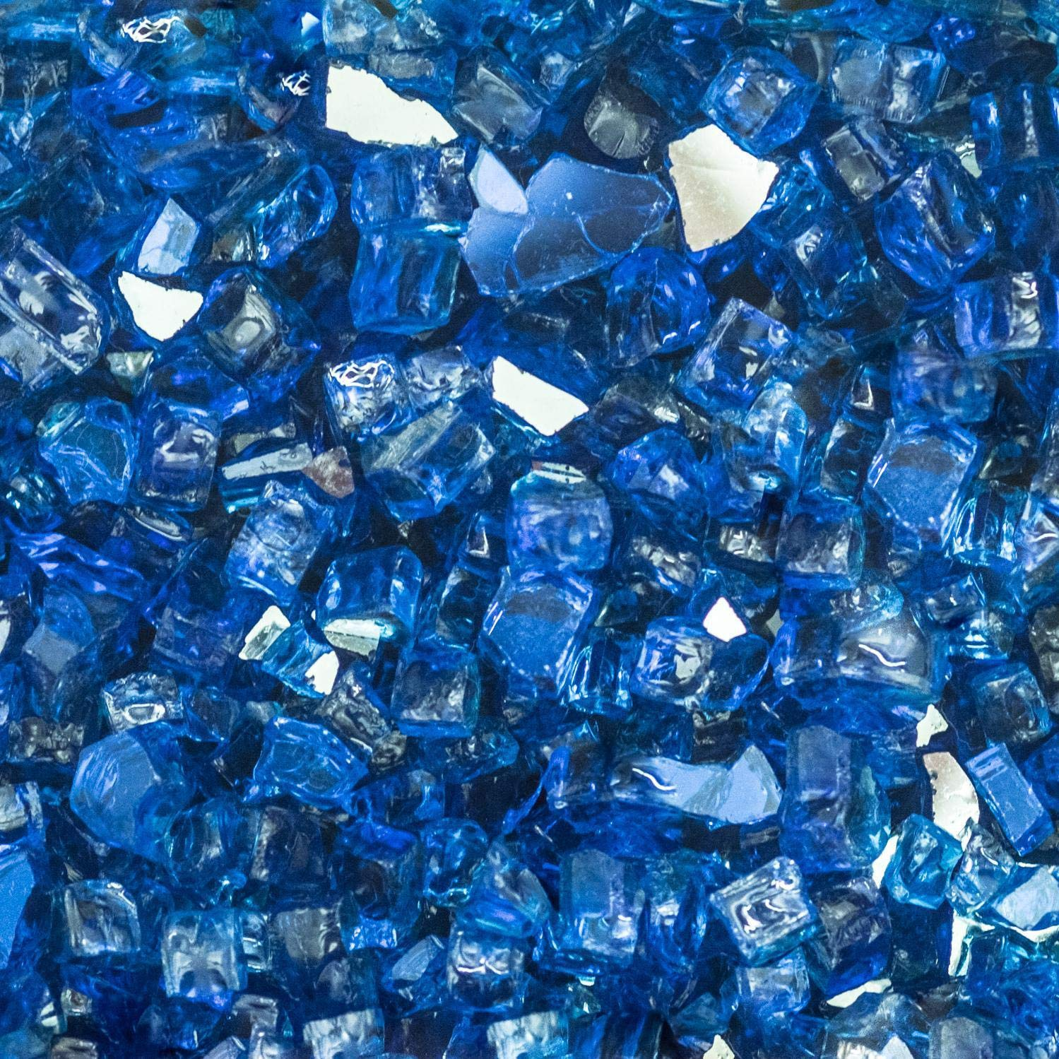Lakeview Outdoor Designs 1/2-Inch Blue-Jay Reflective Fire Glass - 20 Pounds by Lakeview Outdoor Designs