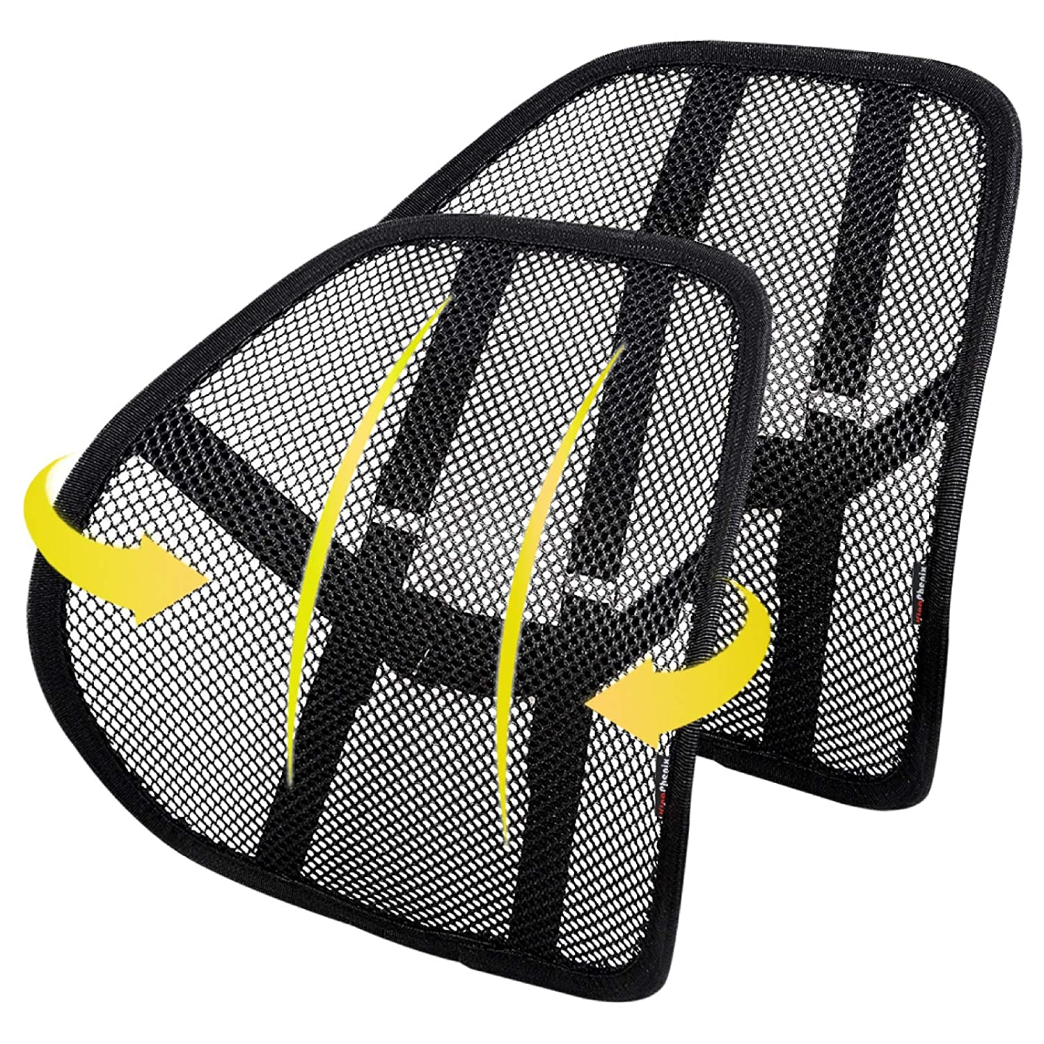 """SAMYOUNG Mesh Back Support Adjustable Mesh Lumbar Support Seat Cushion with Breathable Mesh Construction for Office Chairs Car Seats 12/"""" x 16/"""""""