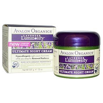 4 Pack - Avalon Organics Ultimate Night Cream, Lavender Luminosity 2 oz 3x TonyMoly Im Real Aloe Mask Sheet Tony Moly Pack of 3 Deep Cleansing Facial Beauty Masks Aloe Vera Face Mask