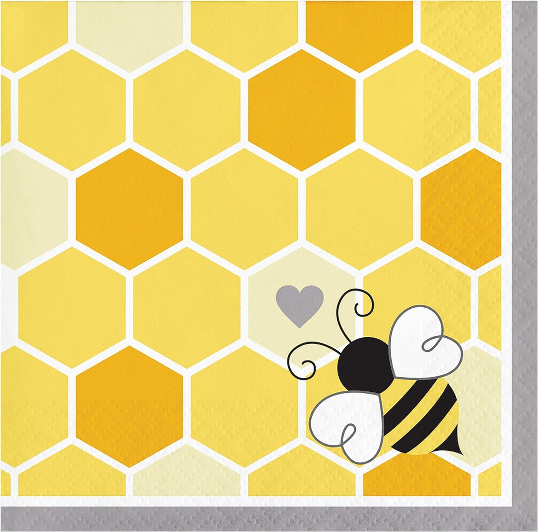 Bumblebee Baby Shower Beverage Napkins, 48 ct