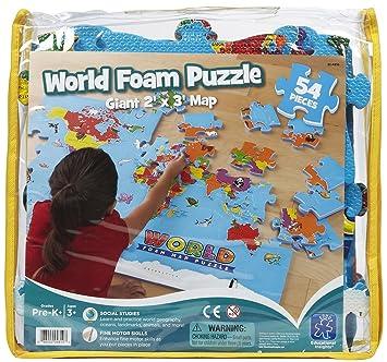 Educational Insights World Foam Map Puzzle (54 pcs): Amazon.co.uk: Baby