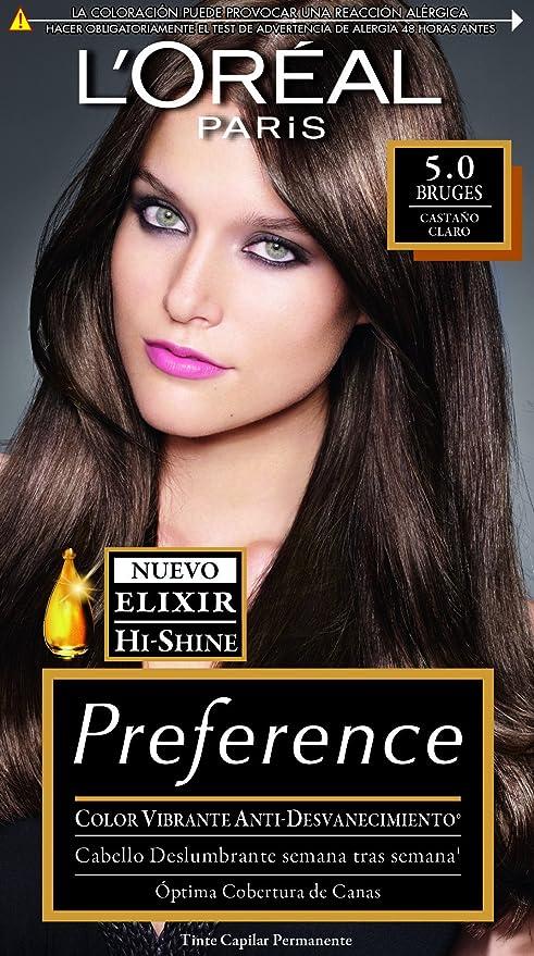 Tinte Capilar Permanente Preference L Oréal Paris 5 Castaño Claro ... 79c466495719