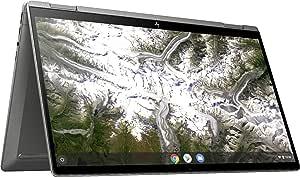 2020 Newest HP x360 2-in-1 14-inch FHD Touchscreen Chromebook 10th Gen. Intel Core i3-10110U, 8GB RAM, 64GB eMMC, B&O Audio, WiFi 6, Backlit Keyboard, Fingerprint Reader - Mineral Silver