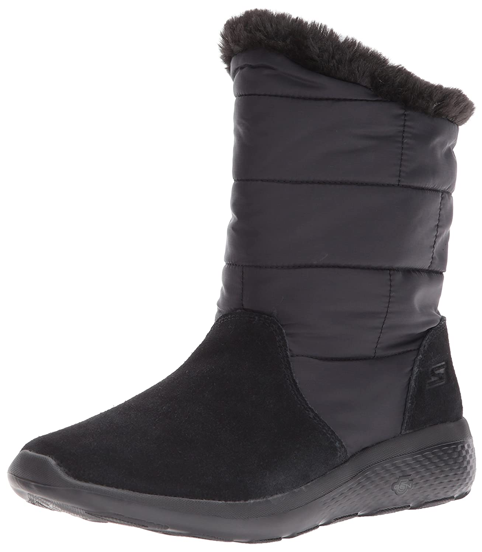 Skechers Women's On-The-Go City 2-Puff Winter Boot B06XB8HC4X 10 B(M) US|Black