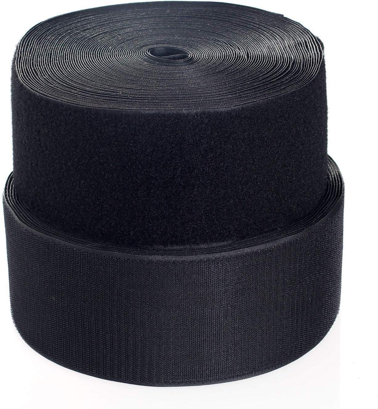 de vuelta sin adhesivo 16MMX1M blanco Cinta de Gancho y Bucle On Shelf/® Hook y Loop Bandas para coser no autoadhesivas