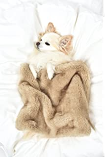 Peluche Plush Luxury Palomino Mink w/ Cuddle Cream Faux Fur Dog/Pet Blanket